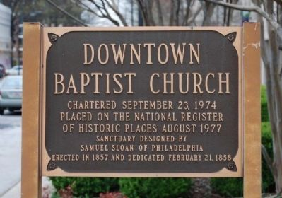 Downtown Baptist Church Marker image. Click for full size.