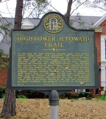 Hightower (Etowah) Trail Marker image. Click for full size.