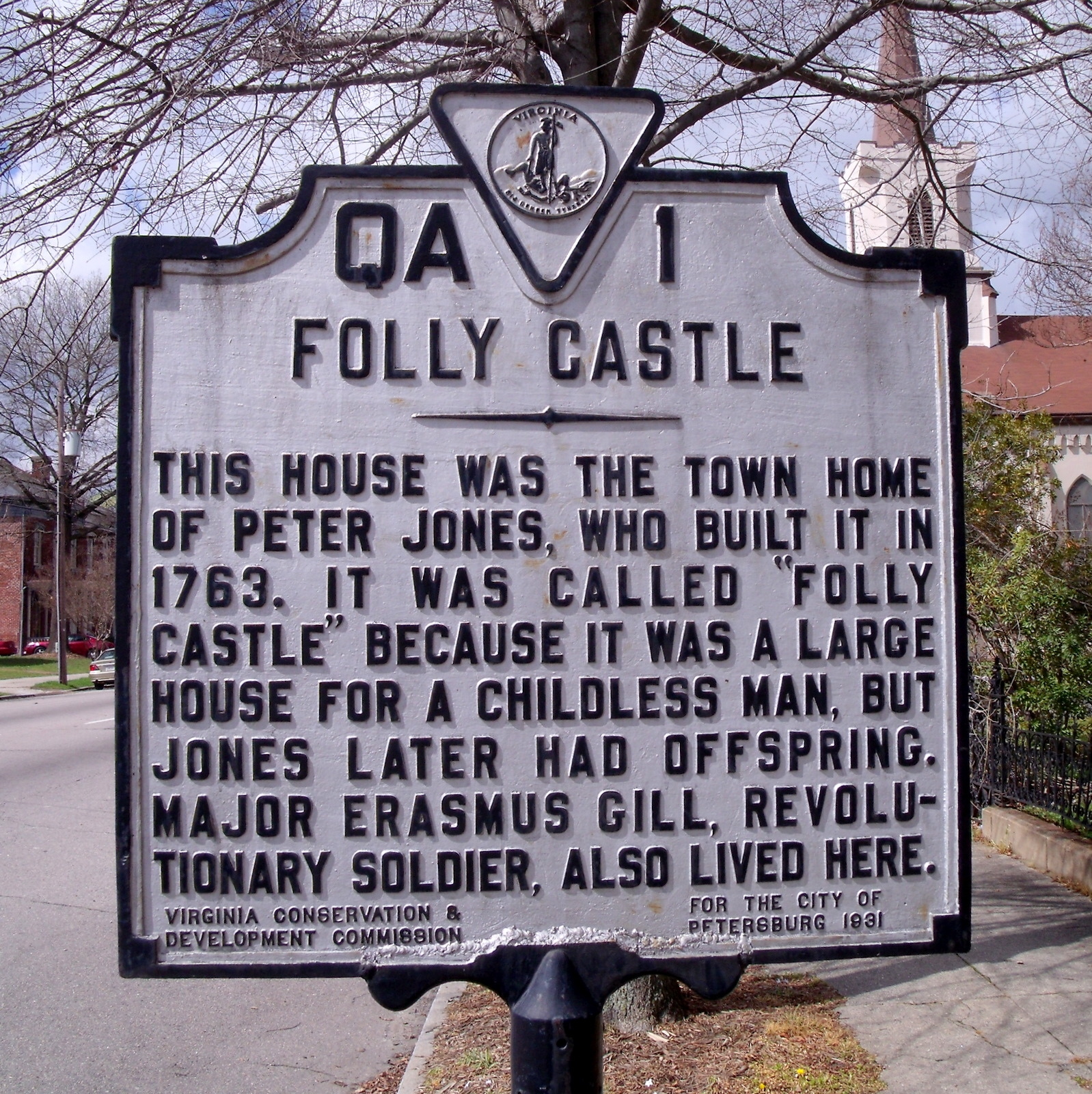 Folly Castle Marker