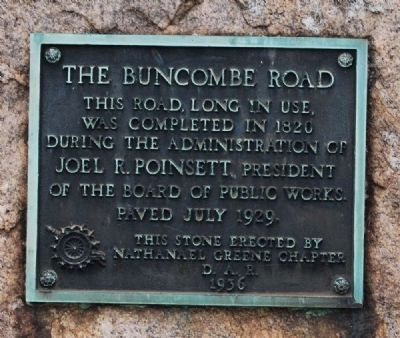 The Buncombe Road Marker image. Click for full size.