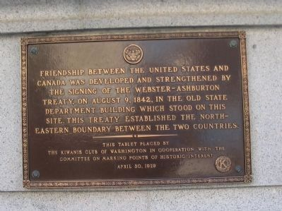 Webster-Ashburton Treaty Marker image. Click for full size.