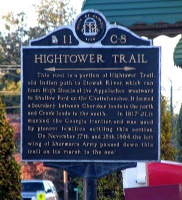 Hightower Trail Marker image. Click for full size.