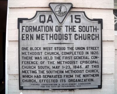 Formation of the Southern Methodist Church Marker image. Click for full size.