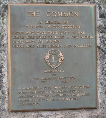Plaque in Memory of the Sons of Old Woodbury image. Click for full size.