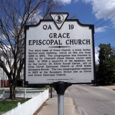Grace Episcopal Church Marker image. Click for full size.