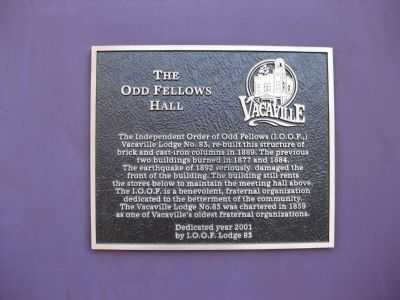 The Odd Fellows Hall Marker image. Click for full size.