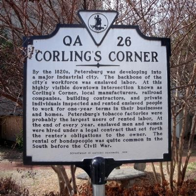 Corling's Corner Marker image. Click for full size.