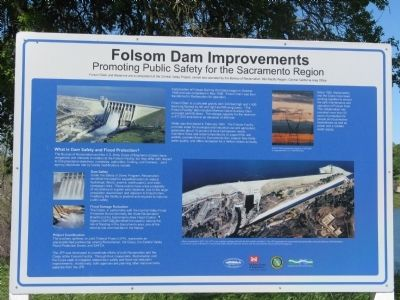 Folsom Dam Improvements Marker image. Click for full size.
