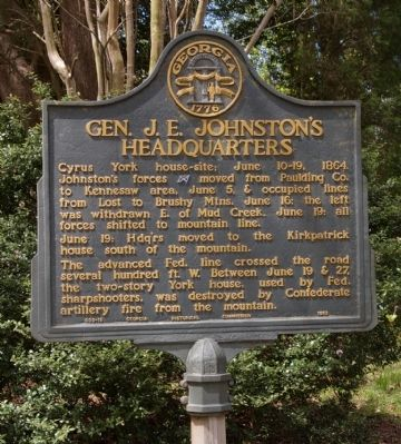 Gen. J. E. Johnston's Headquarters Marker image. Click for full size.