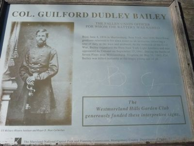 Col. Guilford Dudley Bailey Marker - Panel 1. image. Click for full size.
