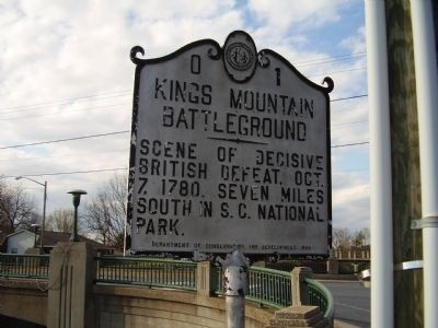 Kings Mountain Battelground Marker image. Click for full size.