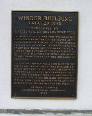 Winder Building Marker image. Click for full size.