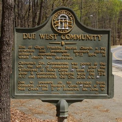 Due West Community Marker image. Click for full size.