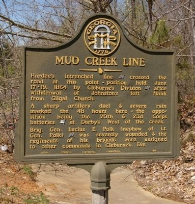 Mud Creek Line Marker image. Click for full size.