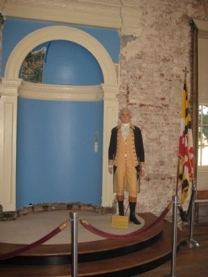 General Washington in the Old Senate Chamber image. Click for full size.