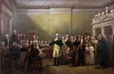 General George Washington Resigning His Commission image. Click for full size.