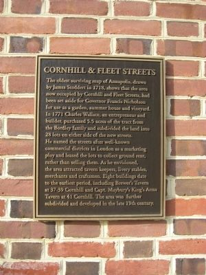 Cornhill & Fleet Streets Marker image. Click for full size.