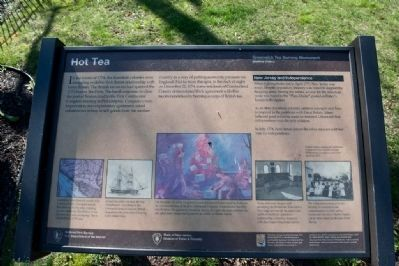 New Jersey Parks Marker describing the Tea Burning Incident image. Click for full size.