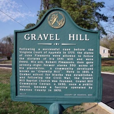 Gravel Hill Marker image. Click for full size.