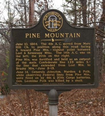 Pine Mountain Marker image. Click for full size.