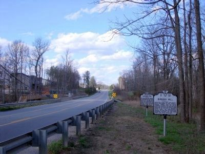 Burgess Mill Marker on Boydton Plank Road (facing north). image. Click for full size.