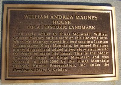 William Andrew Mauney Marker image. Click for full size.