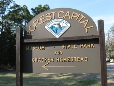Forest Capital State Park sign image. Click for full size.