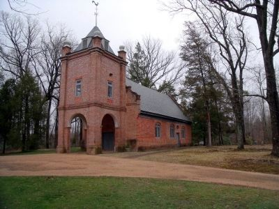 St. Peter's Church, New Kent County, Va. image. Click for full size.