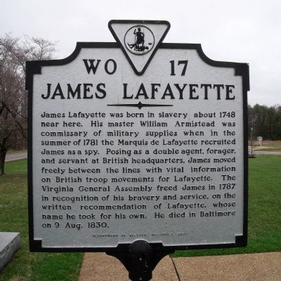 James Lafayette Marker image. Click for full size.
