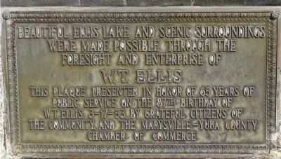 Ellis Lake Marker image. Click for full size.