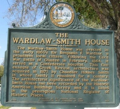 The Wardlaw-Smith House Marker image. Click for full size.