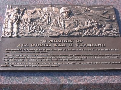 Nearby World War II Memorial image. Click for full size.