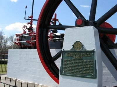 Steam Engine of the Florida Manufacturing Company Marker image. Click for full size.