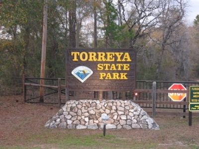 Torreya State Park sign image. Click for full size.