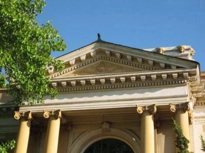 Carnegie Library - Columns, Pediment, and Decorative Ornamentation image. Click for full size.
