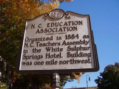 N.C. Education Association Marker image. Click for full size.