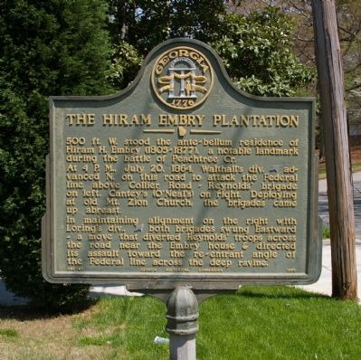 The Hiram Embry Plantation Marker image. Click for full size.