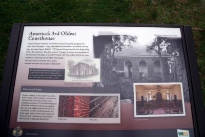 America's 3rd Oldest Courthouse Marker image. Click for full size.