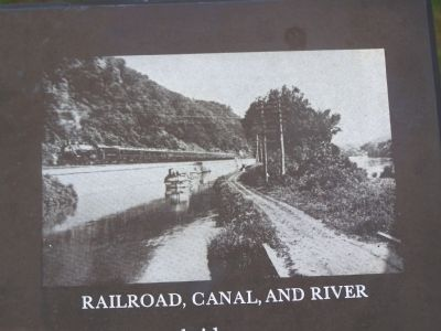 Railroad, Canal and River image. Click for full size.