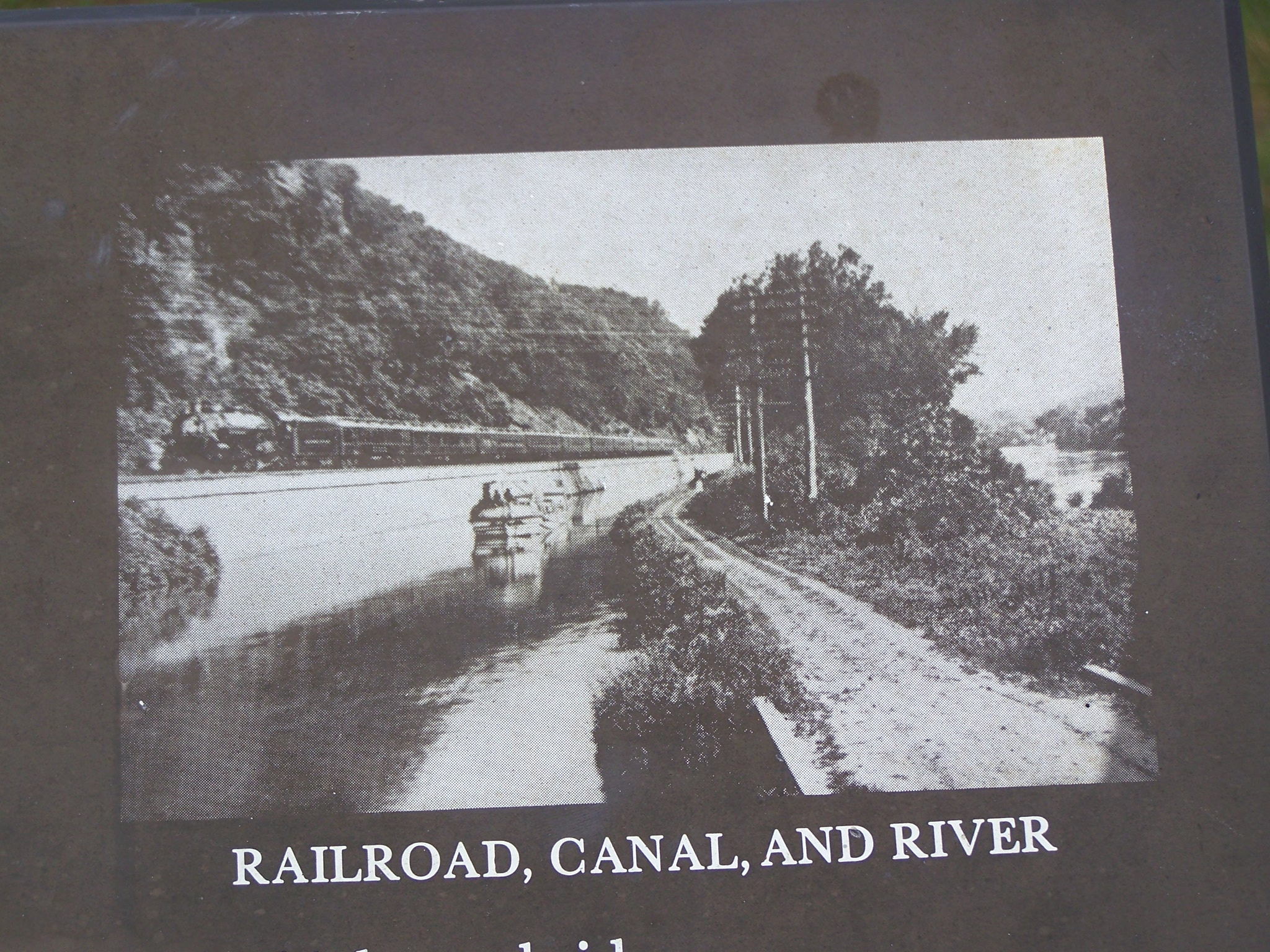 Railroad, Canal and River