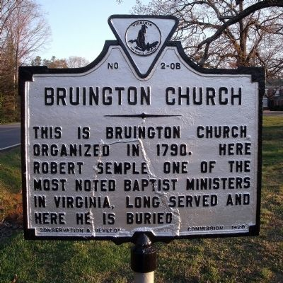 Bruington Church Marker image. Click for full size.