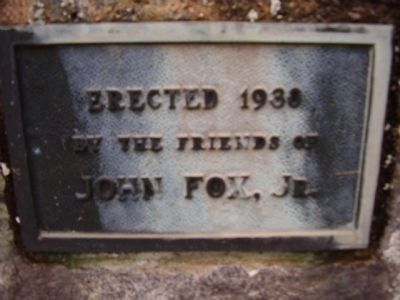 John Fox, Jr. Marker image. Click for full size.