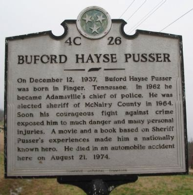 Buford Hayse Pusser Marker image. Click for full size.