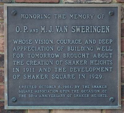 Honoring the Memory of O.P. and M.J. Van Sweringen Marker image. Click for full size.