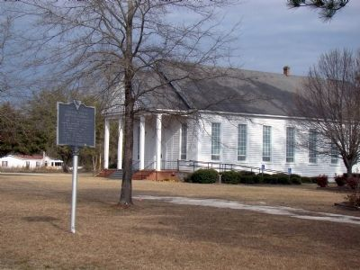 Catfish Creek Baptist Church and Marker image. Click for full size.