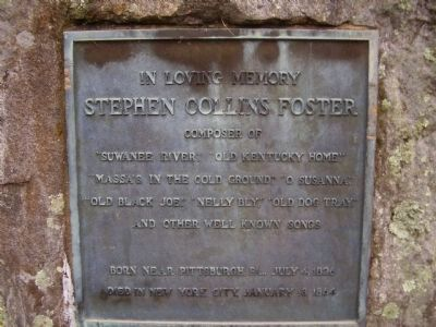 Stephen Collins Foster Marker image. Click for full size.