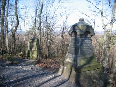 119th Pennsylvania and 20th Maine Monuments on Big Round Top image. Click for full size.