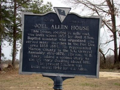 Joel Allen House Marker image. Click for full size.