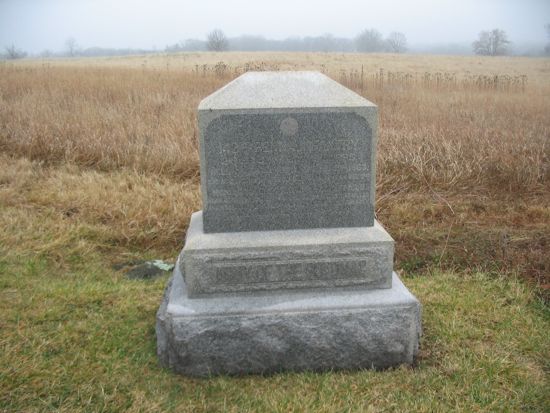 143rd Pennsylvania Infantry Monument