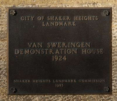 Van Sweringen Demonstration House Marker image. Click for full size.